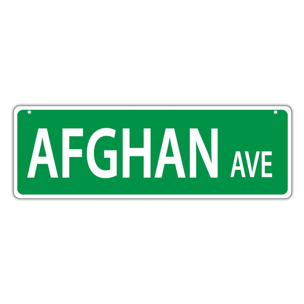 Street Sign - Afghan Avenue