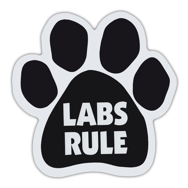 Dog Paw Magnet - Labs Rule