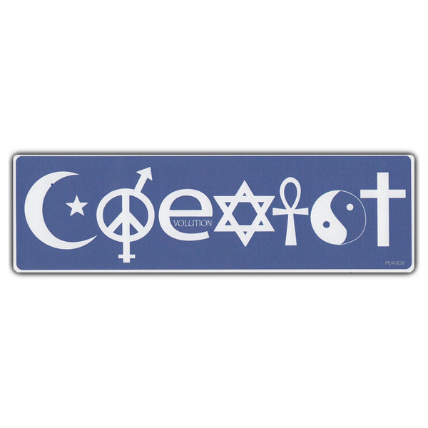Bumper Sticker - COEXIST