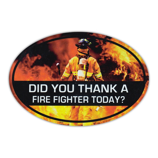 Oval Magnet - Thank A Firefighter