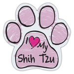 Pink Scribble Dog Paw Magnet - I Love My Shih Tzu
