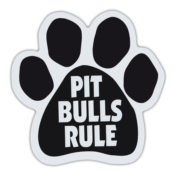 Dog Paw Magnet - Pit Bulls Rule