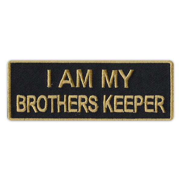 Patch - I Am My Brother's Keeper (Black/Gold)