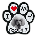 Picture Paw Magnet - I Love My Poodle