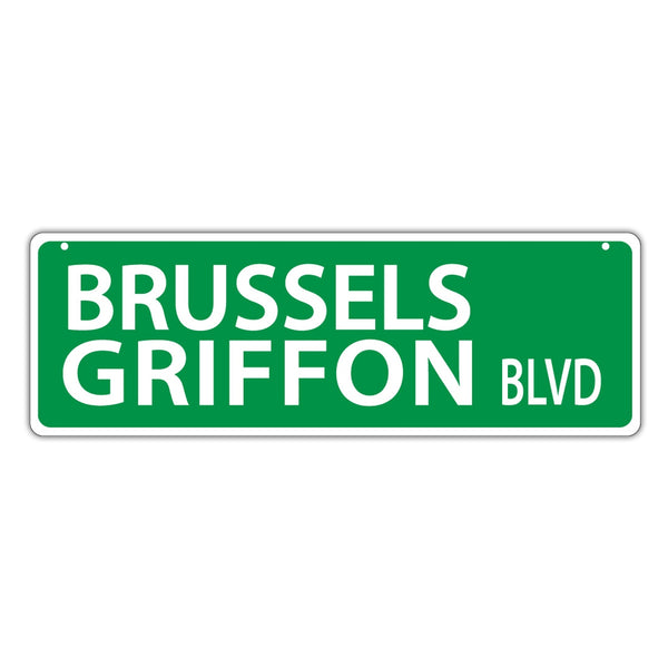Street Sign - Brussels Griffon Blvd