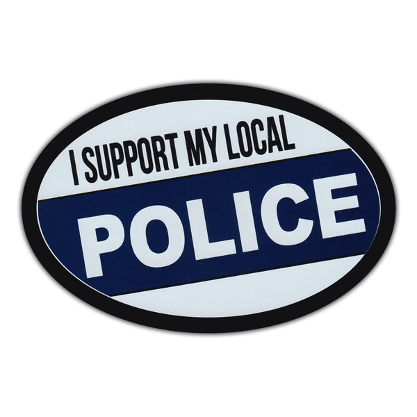 Oval Magnet - I Support My Local Police
