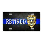 Retired Police Officer Plate