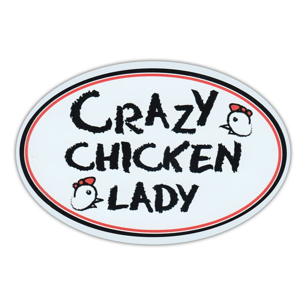 Oval Magnet - Crazy Chicken Lady