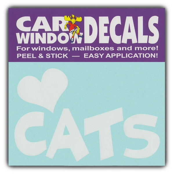 "Window Decal - Love Cats (4.5"" Wide)"