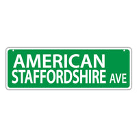 Street Sign - American Staffordshire Avenue