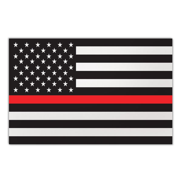 "Magnet - Giant Size, Thin Red Line United States Flag (12"" x 7.75"")"