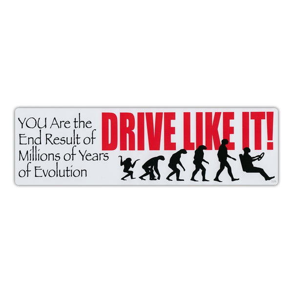 Bumper Sticker - You Are The End Result Of Millions Of Years Of Evolution, Drive Like It!