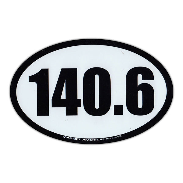 "Magnet - 140.6 Iron Man Triathlon (6.5"" x 4.25"")"