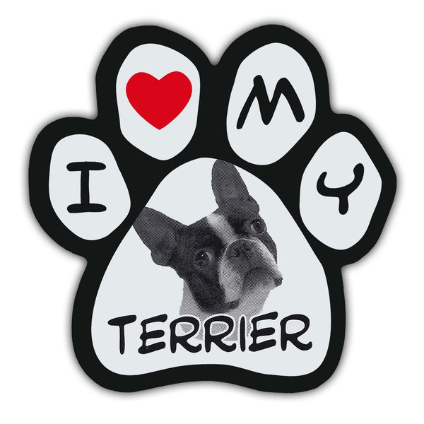 Picture Paw Magnet - I Love My Terrier
