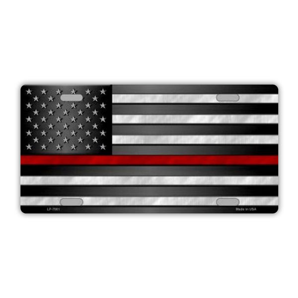 United States Flag Thin Red Line Plate