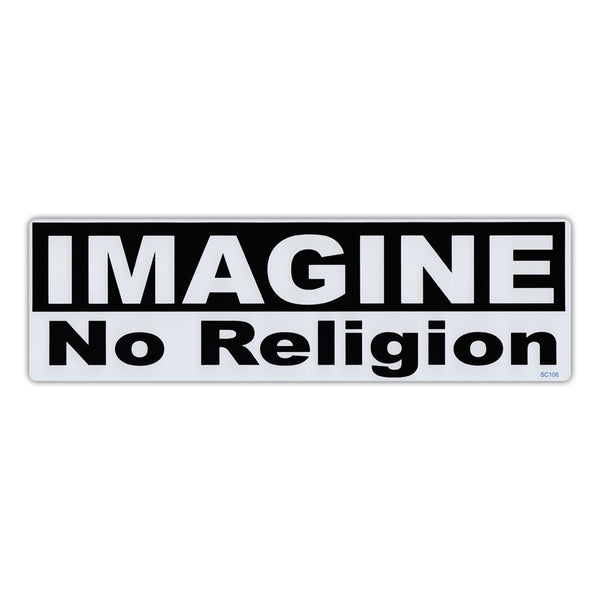 Bumper Sticker - Imagine No Religion