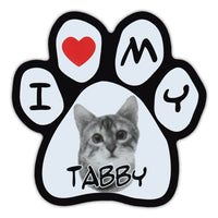 Picture Paw Magnet - I Love My Tabby
