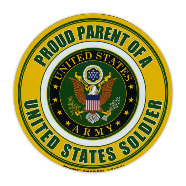 Round Magnet - Proud Parent of a Soldier