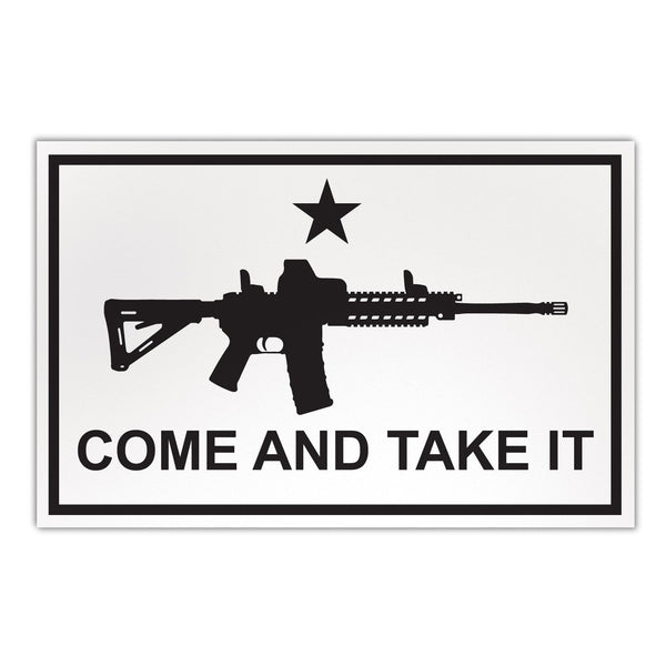 "Magnet - Large Size, Come and Take It Flag (AR-15)  (8.5"" x 5.5"")"