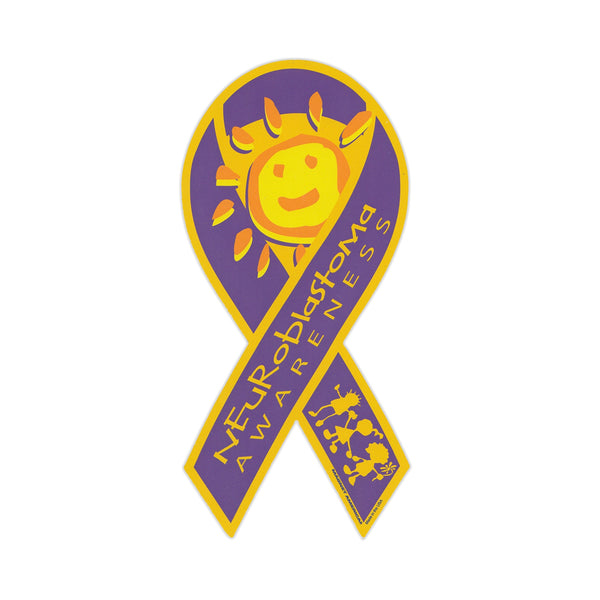Ribbon Magnet - Neuroblastoma Awareness