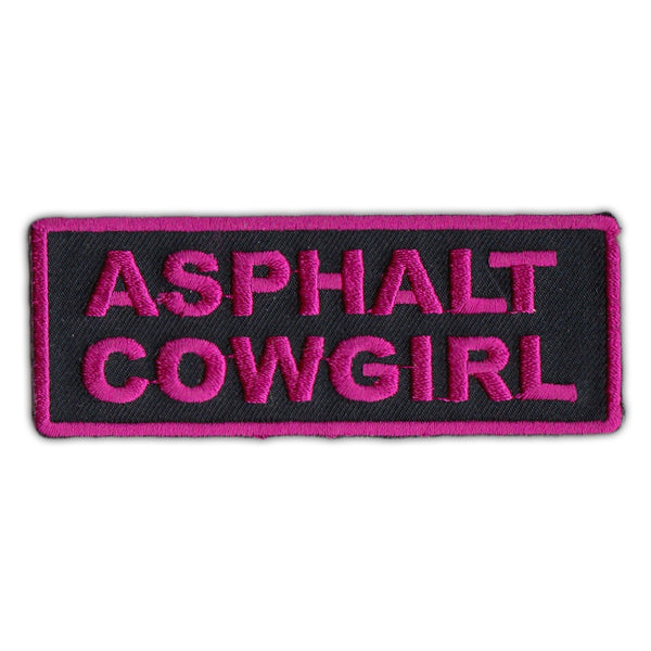Embroidered Patch - Asphalt Cowgirl