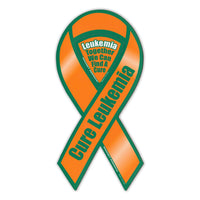 Ribbon Magnet - Cure Leukemia