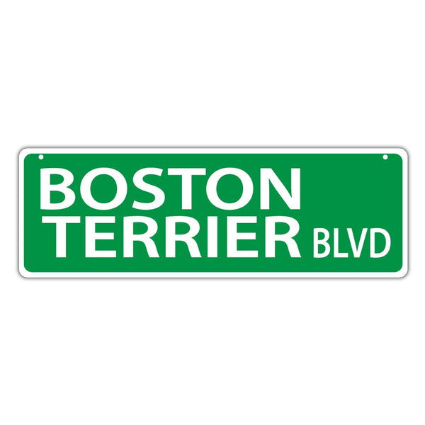 Street Sign - Boston Terrier Blvd