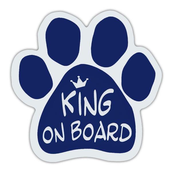 Dog Paw Magnet - King On Board
