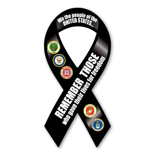 Ribbon Magnet - Remember Those Who Gave Their Lives