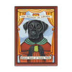 Refrigerator Magnet - Patron Saint Dog Series, Black Lab