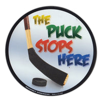 "Magnet - The Puck Stops Here (5"" Round)"