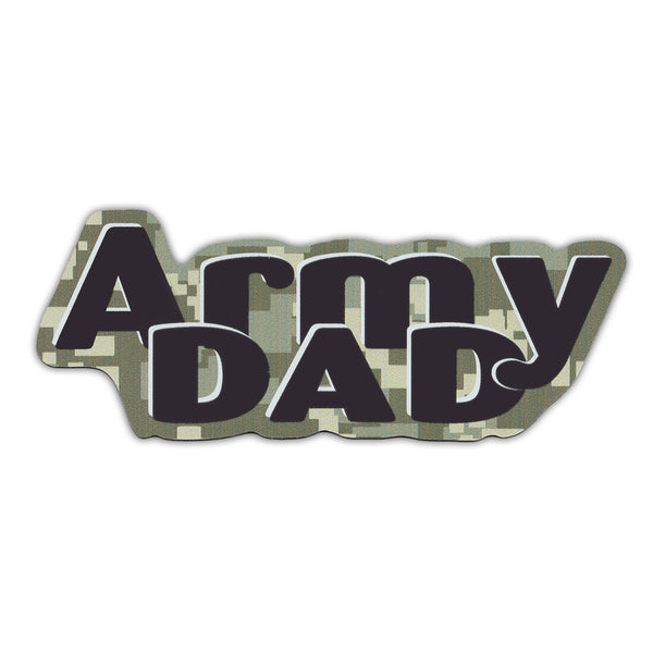 "Word Magnet - Army Dad (2.25"" x 6.5"")"