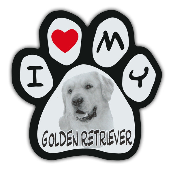 Picture Paw Magnet - I Love My Golden Retriever