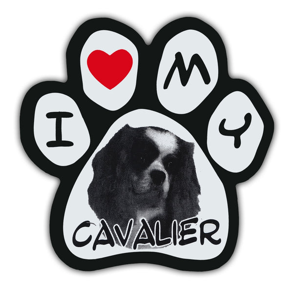 Picture Paw Magnet - I Love My Cavalier
