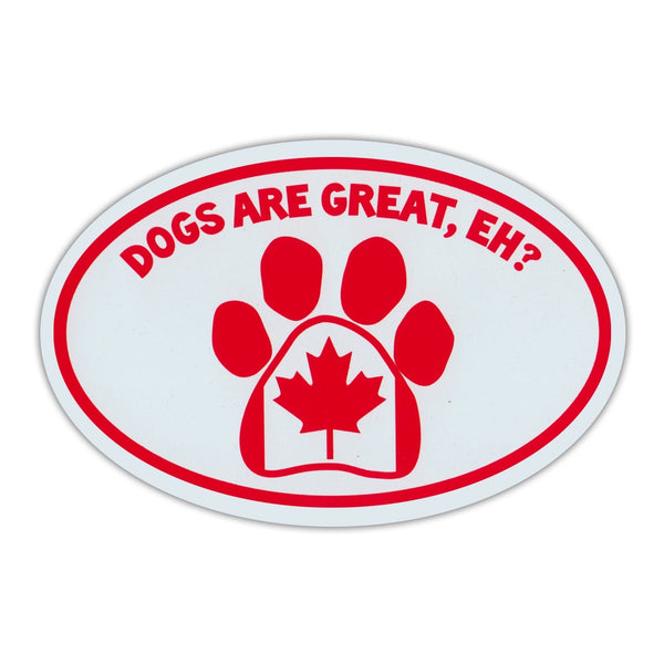 Oval Magnet - Dog Paw Canadian Flag