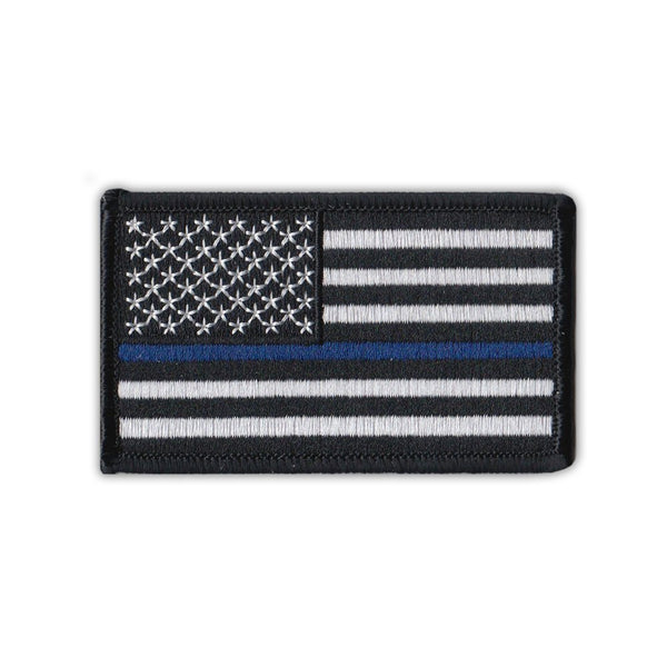 Patch - United States Flag Thin Blue Line, Police