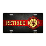 Retired Fire Department Plate