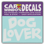"Window Decal - Dog Lover (4.5"" Wide)"