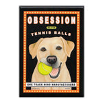Refrigerator Magnet - Yellow Lab Obsession Tennis Balls