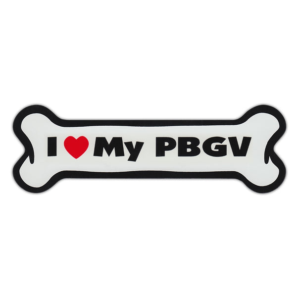 Dog Bone Magnet - I Love My PBGV