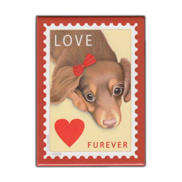 Retro Pets Refrigerator Magnet Dapper Doxie Stout Dachshund Beer