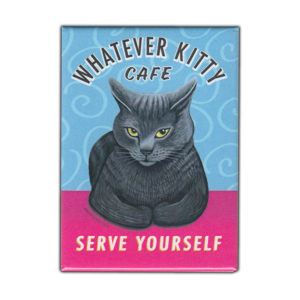Refrigerator Magnet - Whatever Kitty Cafe