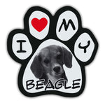 Picture Paw Magnet - I Love My Beagle