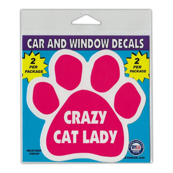 "Window Decals (2-Pack) - Crazy Cat Lady (4.5"" x 4.25"")"