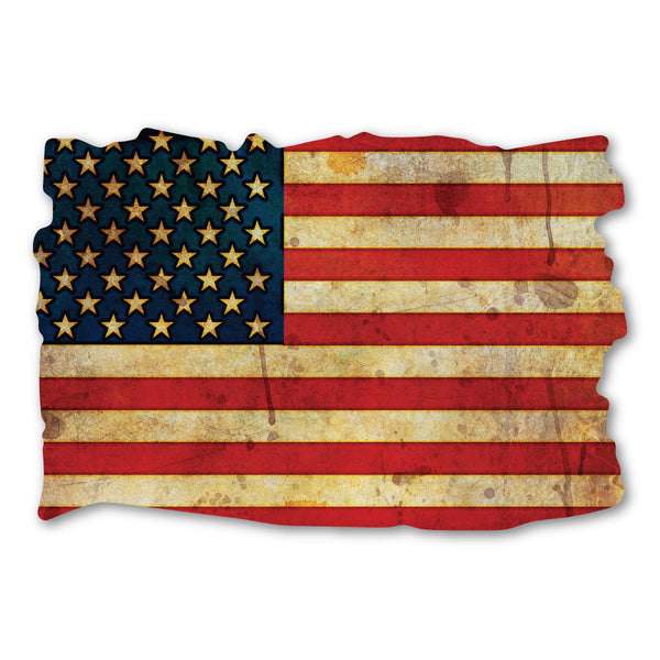 "Magnet - United States Flag Magnet (Grunge Look Design) (4.5"" x 3"")"