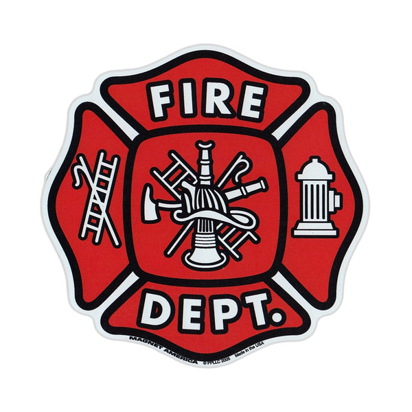 "Magnet - Fire Department Shield (5"" x 5"")"