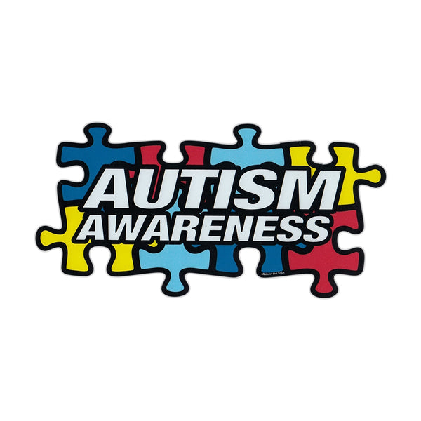 "Magnet - Autism Awareness Puzzle Pieces (7"" x 3"")"