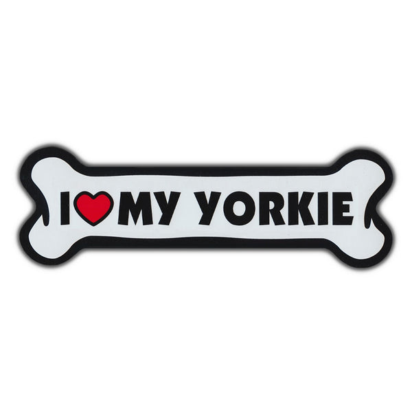 Giant Size Dog Bone Magnet - I Love My Yorkie
