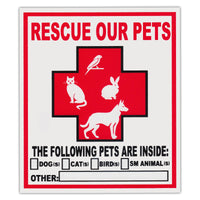 (2-Pack) Pet Rescue Window Decals