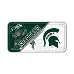 Embossed Aluminum License Plate Cover - Michigan State University Spartans